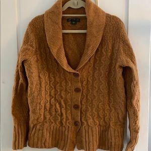 Eddie Bauer lambswool shawl collar cardigan